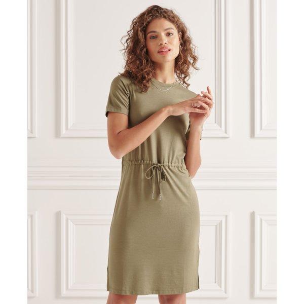 T-Shirt-Kleid mit Kordelzug