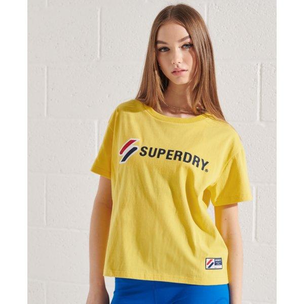 Kastenförmiges Sportstyle T-Shirt mit Grafik