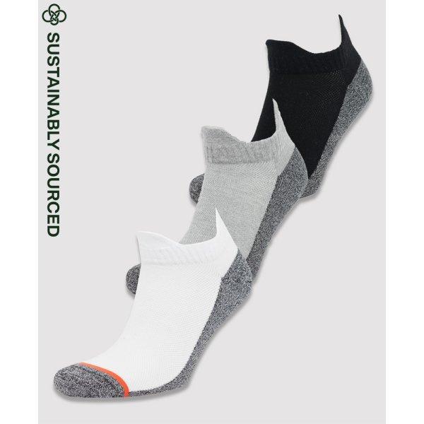 Sportstyle Sneakersocken aus Bio-Baumwolle im 3er-Pack