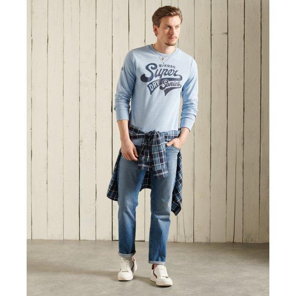 Collegiate Sweatshirt mit Rundhalsausschnitt