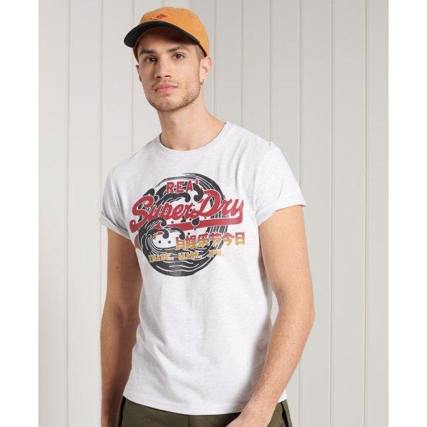 Itago T-Shirt mit Vintage Logo und Standardgewicht